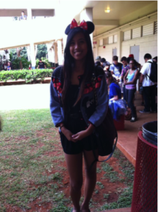 Freshman Jessica Mamamba dressed up as Minnie Mouse.