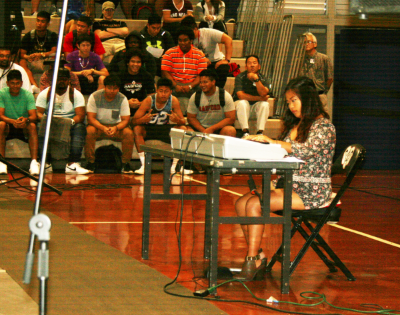 Pianist Marielle Yasay (11) wins by playing a mashup of her favorite songs.