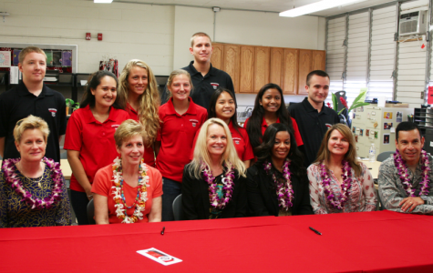 Ellyn Dunford, Bruni Bradley, Kim Crutchfield, Rebecca White, and Colonel Peter Santa Ana of the United States Pacific Command Directors visited Radford High School's Transition Center. Student facilitators shared how the center is run, and about their experiences in the program. During the third quarter alone, the school received 48 new students.