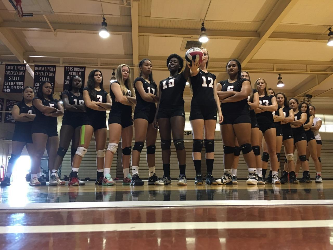 "Lady Rams Volleyball hosts 4 wins and 6 losses after playing Campbell, Waianae, Aiea, Nanakuli, Waipahu, Waialua, Mililani, Kapolei, Pearl City, and Leilehua. Coach Candice Fujiwara recognizes her team's talent and is working with her players to bring their skills to the court.  ""They are so talented and is probably the most talented team I've coached in my 11 years here at Radford, but they need to believe they are talented,"