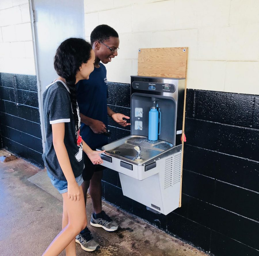 PTSA Installs Filtered Water Filling Stations