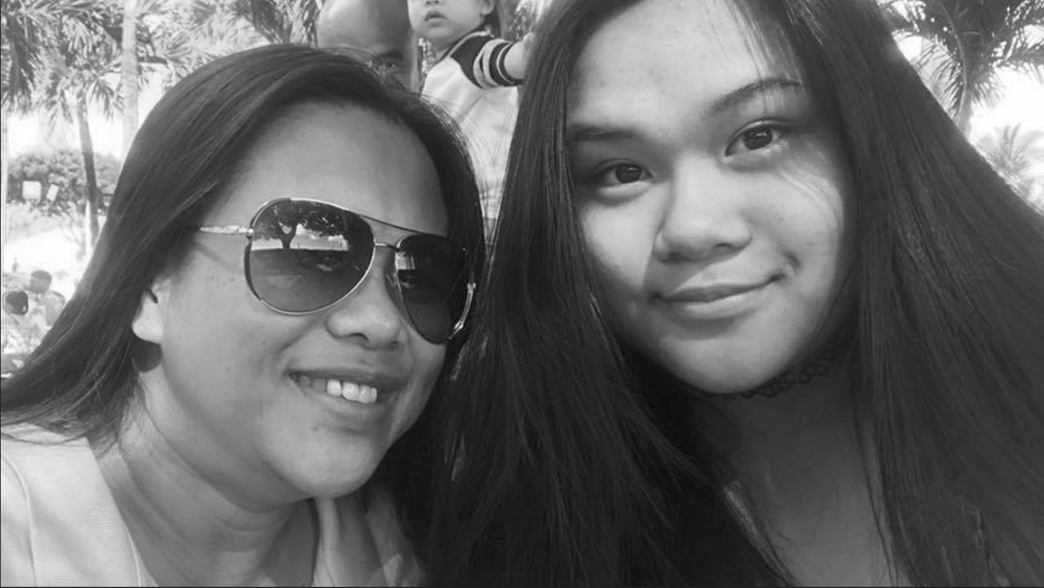 Alyssa Lacap and her mom Josie Lacap are on a family date at the waterpark. Though Alyssa is unable to spend time with friends, her parents take her out occasionally to make up for it.