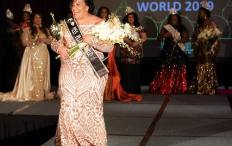 "Tuitele walking down the catwalk as she had just been crowned Miss Plus World. Tuitele brought home the title from  Miss Hawaii Plus last year. ""My future plans for pageantry are still in the works, but I want to eventually grow the plus size pageantry here in Hawai'i,"" she said."