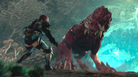 """(Photo Credit: analogstickgaming.com) A monster named Odogaron is depicted halfway through its cutscene which takes place in the Rotten Vale, one of the many areas to explore, displaying the combination of innovative ideas and great graphics that makes up """"Monster Hunter: World.""""  This was one of many enemies that can be encountered by progressing through the main storyline and proves just how much of a different experience """"Monster Hunter: World"""" is compared to other games, especially with the otherworldly concepts, that makes it a great fit for many bored gamers looking for some action."""