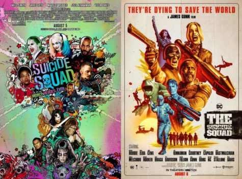 The posters for David Ayer's Sucicide Squad (2016), and James Gunn's The Suicide Squad (2021) side-by-side. I'd rate Suicide Squad 4/10. I'll gladly rate The Suicide Squad a 9/10.